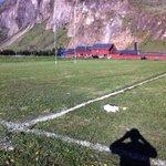 Preparando nuestra cancha de rugby, sábado 25 encuentro internacional aniversario 85 años Coyhaique. @municoyhaique http://t.co/jOCD613KqI