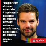 """Ricky Martin: """"Simplemente queremos los mismos derechos, nada más ni nada menos, simplemente los mismos"""". http://t.co/jSlQXRwLaL"""