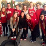 RT @tbuss3: Some of us @IndianaWBB players with the first people in line for Hoosier Hysteria tomorrow night!???????? http://t.co/mUA7N1YlWh