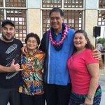 Three generations supporting Mufi - l to r - Samuel C. Streep, III, May Fujiwara , Mufi, & Deborah Loffler.