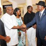 RT @abati1990: Senator Aduda, Hon. Elumelu & Minister of Power welcoming President Jonathan to Jerusalem for 2014 Pilgrimage, Sat. http://t.co/My3KdfoeCa