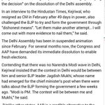 RT @aartic02: People want .@ArvindKejriwal back as CM .. Bjp knows it so resorting to dirty tactics #BJPFakeVote http://t.co/KacPOl2Hxl