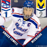 RT @RiverHawkHockey: Adam Chapies goal late in the first period pulls the River Hawks within 1 of @umichhockey #UnitedInBlue http://t.co/FG8QFUWnLq