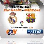 RT @ElMundoSV: #LigaBBVA   El clásico español: (#RealMadridvsFCB) se verá por TDN, en cable Tigo El Salvador, confirma la empresa. http://t.co/3woqLWnajG