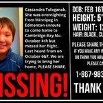 RT @KentDriscoll: Attn @ctvedmonton Missing Nunavut woman was on her way to Edmonton. Please share. http://t.co/cvzj9zFkjC
