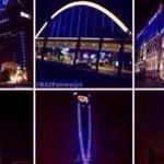 #صورة - أبراج #الرياض الكبرى تضيء بالالوان الزرقاء دعماً لنادي #الهلال الذي سيلعب بعد ساعات في #نهائي_آسيا . - http://t.co/o9UOCqxVLJ