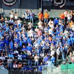 """RT @Royals: Big contingent of #Royals fans and staff at AT&T Park. Could hear """"Lets Go Royals"""" from the field! #TakeTheCrown http://t.co/dZizmq3d14"""