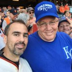 Oh you know, just watching the @sfgiants and @Royals WS game 3 with Ned Yosts brother. #OctoberTogether #GoGiants http://t.co/e4iuITH8XK
