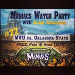 RT @WVUMANIACS: RT if you plan on going to our watch party tomorrow at the Alumni Center to watch the Mountaineers beat Oklahoma St. http://t.co/OQ9Apux5xH