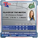 FINAL: LA Tech comes back from a set down to defeat Charlotte, 3-1, for its first C-USA win!!! #WeAreLATech #CUSAVB http://t.co/9dUVlG4X7v