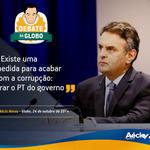 """RT @Rede45: """"Existe uma medida para acabar com a corrupção: tirar o PT do governo."""" @AecioNeves #ÉAécio45Confirma http://t.co/HN9y78JDgN"""
