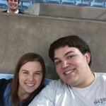 Hanging out with @LHuey77 in the Dean Dome this usher is a creep #CreepyUshers http://t.co/BKjnE2M4sv