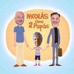 Nicolás tiene dos papás. Estos son los de verdad!!! http://t.co/I0h74g5FML