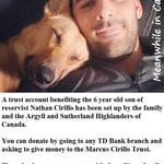 RT @MeanwhileinCana: A trust fund has been set up to help the 6 year old son of Nathan Cirillo. Please pass this info along. #cdnpoli http://t.co/Vx7vXQuBl3
