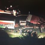 RT @NewsChopperBrad: PHOTOS when you thought youd seen it all: up-ended tractor-trailer see-saw traps 6 inside #breaking http://t.co/IIJzCbCuYj