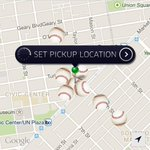 Lots of baseballs on the map. Uber and all Uber customers are cheering for @SFGiants . #GoGiants http://t.co/d1LEGeEBJZ