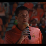 .@CoachGundy addresses the Rowdiest Arena in the Country at Homecoming & Hoops. #okstate #okstatehc http://t.co/yBqxsNhl5y