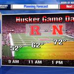 #huskers #gameday forecast! Cant complain about 70s and #sunshine! #newx #Nebraska http://t.co/q3jbSgRvAH