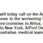 AMA President calls on Federal Government for an immediate response to worsening Ebola epidemic, 3pm Sydney #auspol http://t.co/AOxE2HPBbf