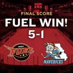 RT @IndyFuel: FUEL WIN!!! FUEL WIN!!! Team nabs four in the third to earn first in in franchise history, 5-1! http://t.co/9daAFgO2Ak
