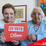 RT @nadadeana: RosaDeCarvalhoAiresSardinha, 105 anos e MathildeDeCarvalho, 79 anos votaram e votarão #Dilma13. #SomosTodosDilma http://t.co/vEGClJgcRI