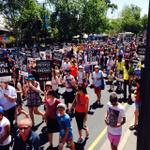 It isnt even possible to fit the whole crowd in one shot! #WalkTogether @welcome2aussie Adelaide http://t.co/7N3oHZS9Dy