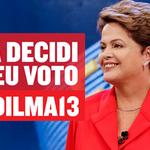 Eu vou de Dilma - #Dilma13 http://t.co/oUOXAaP3Nu