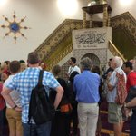 One of the tour groups inside Lakemba Mosque, asking questions of officials #NationalMosqueOpenDay http://t.co/21mJ2unTXL