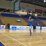 Canberras @Abby_Knight10 goes through her pre-match warmup. Game time around 40 minutes away at Bendigo Stadium. http://t.co/yQsQgBY2ed