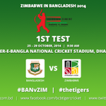 RT @BCBtigers: .@BCBtigers vs @ZimCricketv, 1st Test at SBNC Stadium, Dhaka. @ZimCricketv won the toss and elected to bat first. http://t.co/sQNRYe4qVf