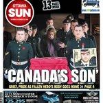 RT @OttawaSunMike: In Saturdays #Sun CANADAS SON Cpl. Nathan Cirillo returns home #ottnews #OttawaStrong #Cirillo http://t.co/hOrnspN8dA