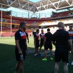 RT @England_RL: We are at @suncorpstadium the calm before the storm #wallofwhite http://t.co/i9yGPrlSJX