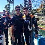 Oli is about to jump in the car to get this race rollin! @olivergavin @NickPercat #hharacing #v8sc http://t.co/WBRoCT6PAZ