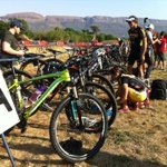 Athletes getting ready to race. Blue skies, mountains as a backdrop, not a bad setting! #DualX4 http://t.co/UN5J8GIHqG