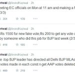 "RT @timesnow: ""BJP MLAs asked to get 5000 fake votes, get AAP votes deleted in each seat,"" says AAP chief Arvind Kejriwal http://t.co/ozvaYlhacc"