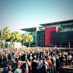 Last crowd outside shot...other end of @suncorpstadium just after Gates open. #4nations. http://t.co/qxAFyZyGeN