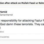 RT @siasatpk: @ZaidZamanHamid reaction after attack on Mullah Fazal ur Rehman http://t.co/dRUqinbmeW #PTIAzadiMarch #PTI #PMLN http://t.co/mW0IvZU5mA
