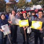 RT @gonoi: 高畑勲監督も #saspl の特定秘密保護法に反対する学生デモFINAL@SHIBUYA 15:30~デモに参加中。かくあるべし。RT @HarunoMatsumoto ハイジや平成狸合戦ぽんぽこ、かぐや姫のおじさんも一緒に来ました! http://t.co/n3RLxiC8Fv
