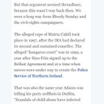 RT @willhanafin: Important point by Gerry moriarty in @IrishTimes today about just how recent the abuse against @mairiac31 was http://t.co/YGMIQb9vzF