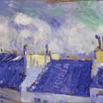 Pablo #Picasso was born #onthisday in 1881. Painted when he was 19, Blue Roofs, Paris is on display in Gallery 62 http://t.co/FYyKUIN9i6