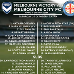 RT @MelbourneCity: LINEUP | The team sheets are in for tonights #MelbDerby. Mate Dugandzic replaces David Williams from last weeks XI http://t.co/ELY3JK0cis