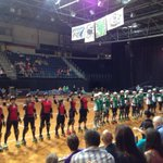 Start of roller derby grand final in #CBR. Seems appropriate I support the team in green - go the Surly Griffins! http://t.co/FW04PVHtTQ