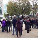 This is a time to grieve but also a time to gain strength, thats what Im hearing at #Halifax cenotaph http://t.co/db69qTakFe