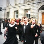 RT @DublinTown: Dancing Zombies are invading #DublinTown Dont miss this Gruesome Dance off at Stephens Green in 10mins #BramStoker http://t.co/TjxqN0WfZi