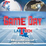 RT @LATechSports: #BulldogCountry its Game Day! Cheer on your Bulldogs as they take on USM at 2:30 today! #WeAreLATech http://t.co/tmEGdp4AWm