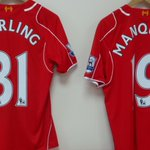 PHOTO: @sterling31 and @javiermanquillos jerseys for today - theyll be looking to link up down #LFCs right http://t.co/9aaXgmY1IG