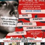 #25oct concierto solidario a favor de @afectados2F #Matazarock #Valladolid http://t.co/BuOHiRB7tl