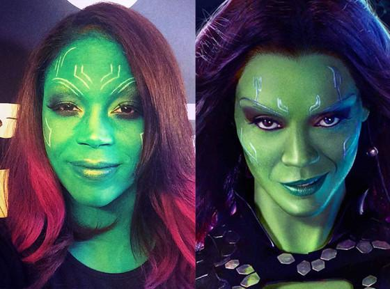 Halloween makeup tutorial: Here how to perfect Gamora's look from Guardians of the Galaxy!