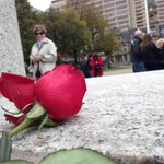 Nearly 50 people are laying flowers and poppies at the #Halifax cenotaph in memory of Cpl Nathan Cirillo. #Ottawa http://t.co/oOGVul6gFC
