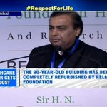 #RFHospital Inauguration | A day for me to remember Dhirubhai Ambani with gratitude: Mukesh Ambani #RespectForLife http://t.co/dCBk8TcpsD